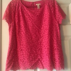 J. Crew Pink Lace top